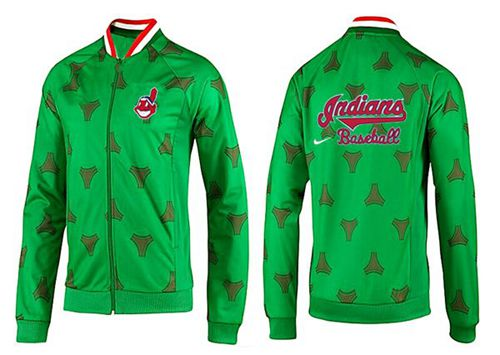 MLB Cleveland Indians Zip Jacket Green_2