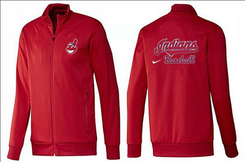 MLB Cleveland Indians Zip Jacket Red