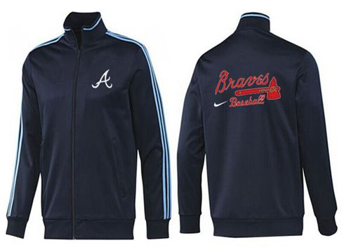 MLB Atlanta Braves Zip Jacket Dark Blue