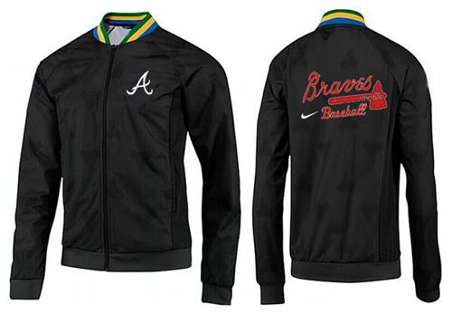 MLB Atlanta Braves Zip Jacket Black_2
