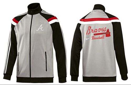 MLB Atlanta Braves Zip Jacket Grey
