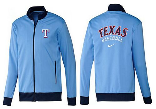MLB Texas Rangers Zip Jacket Light Blue