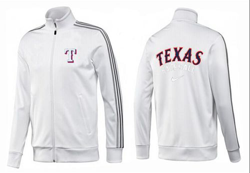 MLB Texas Rangers Zip Jacket White_1