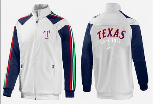 MLB Texas Rangers Zip Jacket White_2