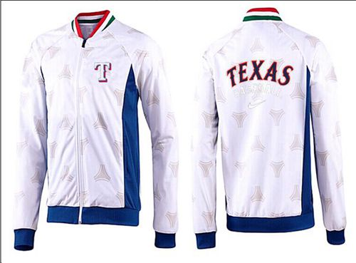 MLB Texas Rangers Zip Jacket White_3