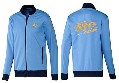 MLB Oakland Athletics Zip Jacket Light Blue_1