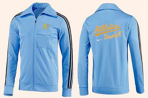 MLB Oakland Athletics Zip Jacket Light Blue_2