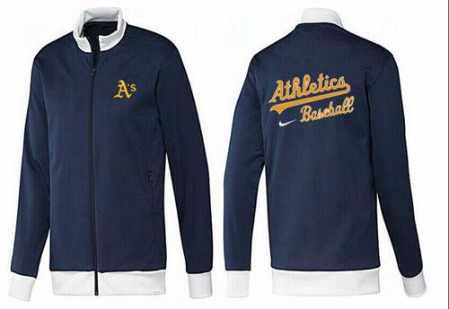 MLB Oakland Athletics Zip Jacket Dark Blue_1