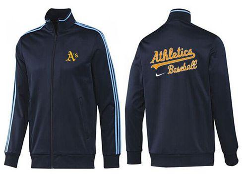 MLB Oakland Athletics Zip Jacket Dark Blue_2