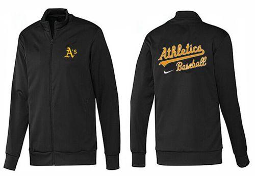 MLB Oakland Athletics Zip Jacket Black_1