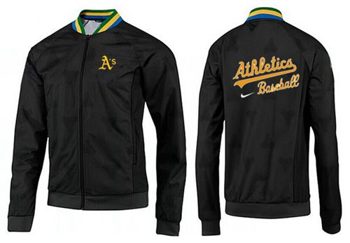 MLB Oakland Athletics Zip Jacket Black_2