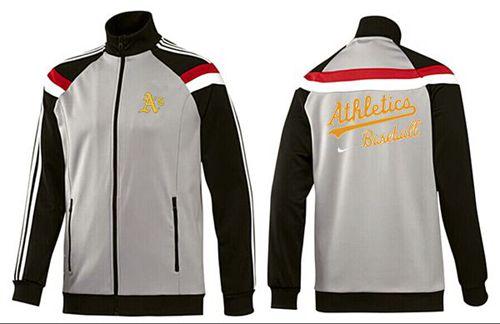 MLB Oakland Athletics Zip Jacket Grey