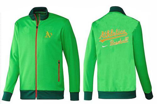 MLB Oakland Athletics Zip Jacket Green