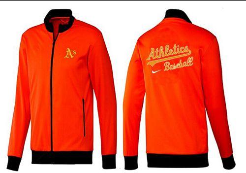 MLB Oakland Athletics Zip Jacket Orange