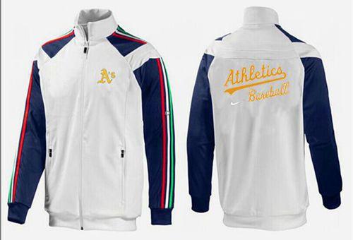 MLB Oakland Athletics Zip Jacket White