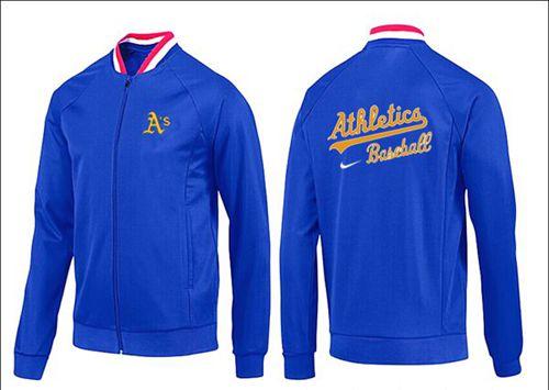 MLB Oakland Athletics Zip Jacket Blue_1