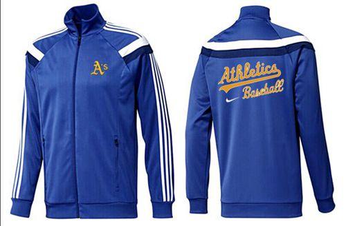 MLB Oakland Athletics Zip Jacket Blue_2