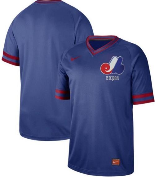 Nike Expos Blank Royal Authentic Cooperstown Collection Stitched MLB Jersey