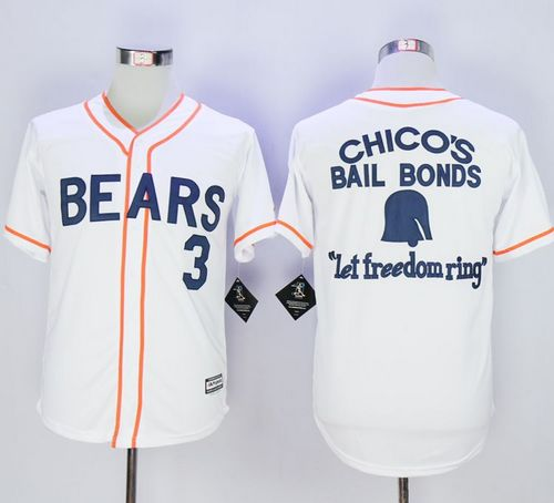 Bad News Bears Button Down #3 Kelly Leak White Movie Stitched MLB Jersey
