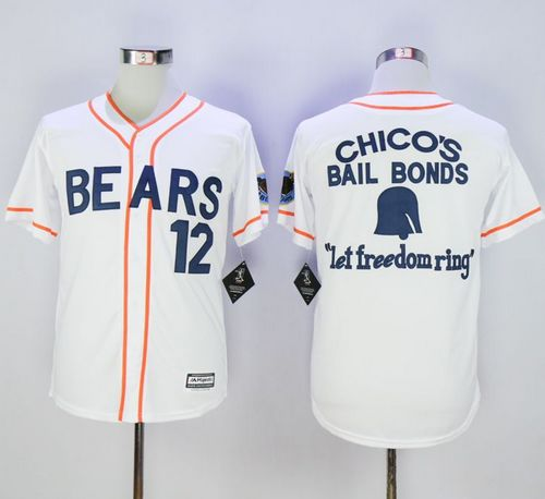 Bad News Bears Button Down #12 Tanner Boyle White Movie Stitched MLB Jersey