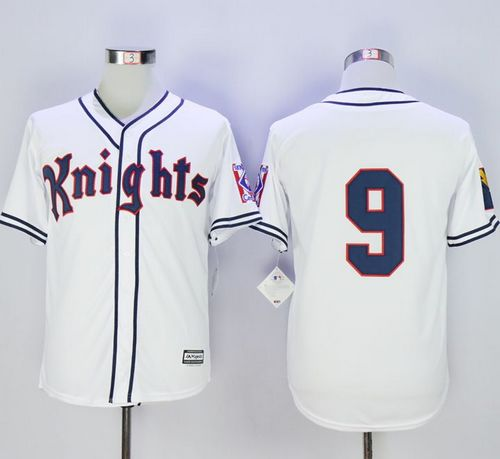 New York Knights The Natural #9 Roy Hobbs White Movie Stitched MLB Jersey