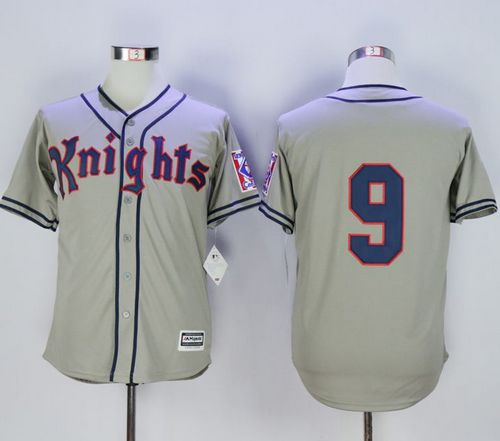 New York Knights The Natural #9 Roy Hobbs Grey Movie Stitched MLB Jersey