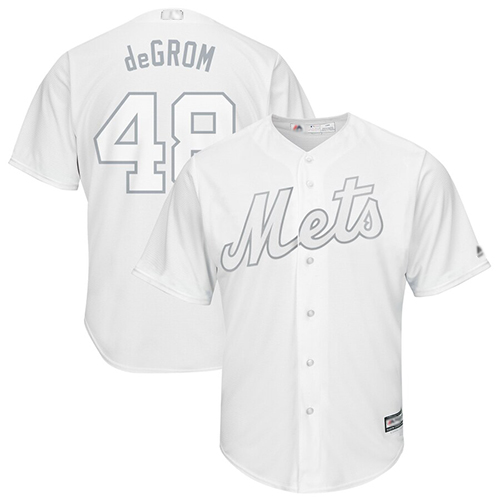 Mets #48 Jacob DeGrom White
