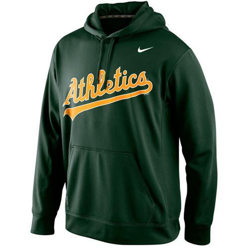 Oakland Athletics Nike Men's KO Wordmark Performance Green MLB Hoodie