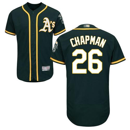 Athletics #26 Matt Chapman Green Flexbase Authentic Collection Stitched MLB Jersey