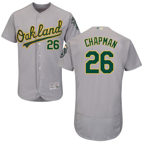 Athletics #26 Matt Chapman Grey Flexbase Authentic Collection Stitched MLB Jersey