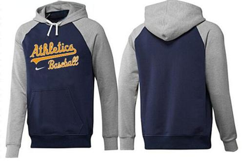Oakland Athletics Pullover Hoodie Burgundy Blue & Grey