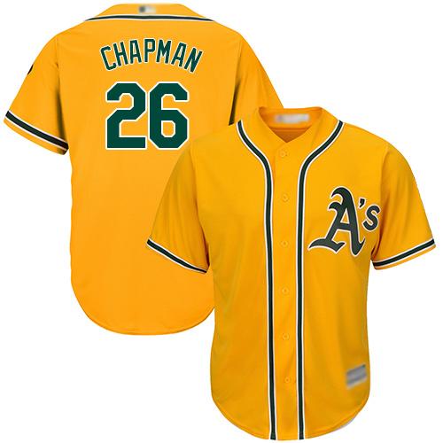 Athletics #26 Matt Chapman Gold New Cool Base Stitched MLB Jersey