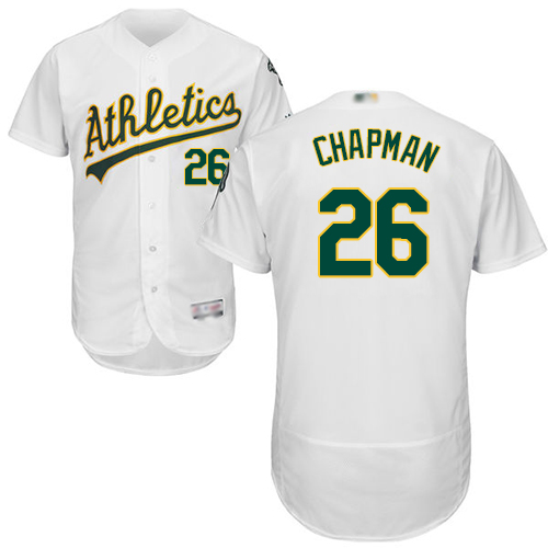 Athletics #26 Matt Chapman White Flexbase Authentic Collection Stitched MLB Jersey