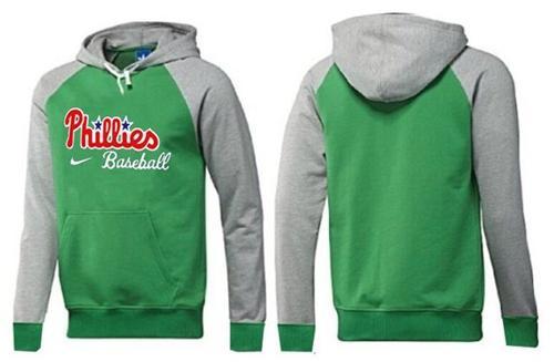 Philadelphia Phillies Pullover Hoodie Green & Grey