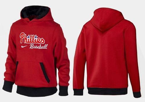 Philadelphia Phillies Pullover Hoodie Red & Black