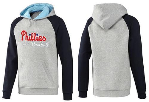 Philadelphia Phillies Pullover Hoodie Grey & Blue