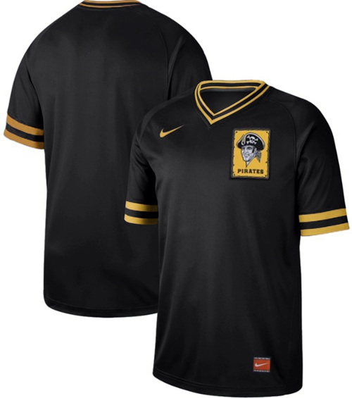 Nike Pirates Blank Black Authentic Cooperstown Collection Stitched MLB Jersey