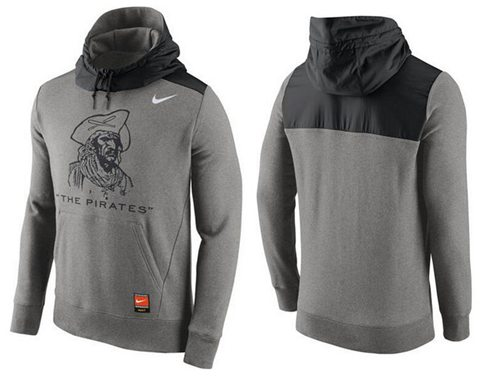 Men's Pittsburgh Pirates Nike Gray Cooperstown Collection Hybrid Pullover Hoodie