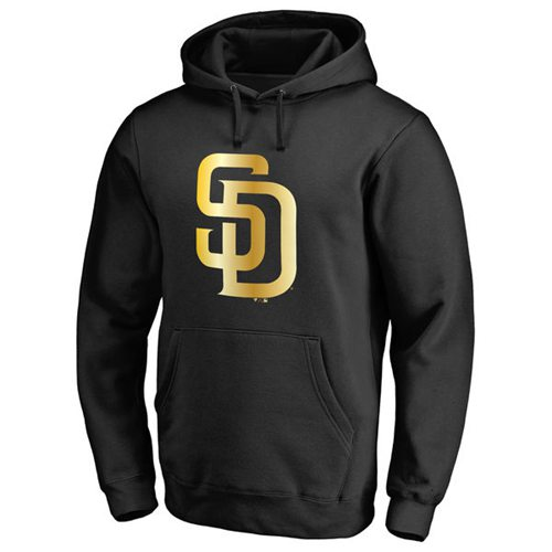 San Diego Padres Gold Collection Pullover Hoodie Black