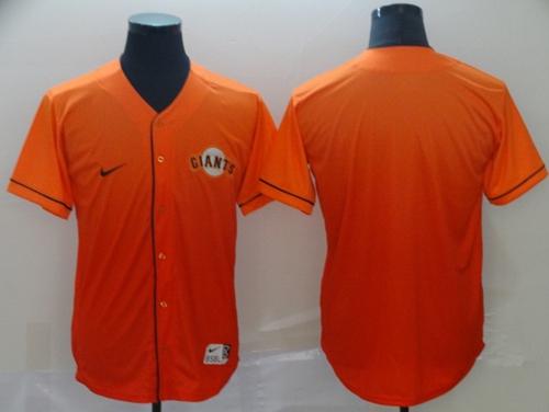 Nike Giants Blank Orange Fade Authentic Stitched MLB Jersey