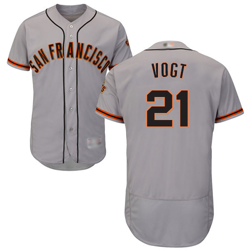 Giants #21 Stephen Vogt Grey Flexbase Authentic Collection Road Stitched MLB Jersey