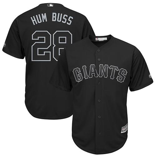 Giants #28 Buster Posey Black
