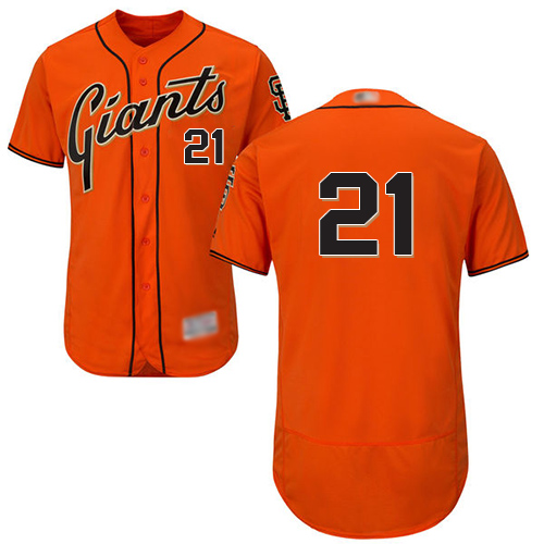 Giants #21 Stephen Vogt Orange Flexbase Authentic Collection Stitched MLB Jersey