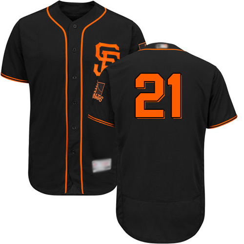 Giants #21 Stephen Vogt Black Flexbase Authentic Collection Alternate Stitched MLB Jersey