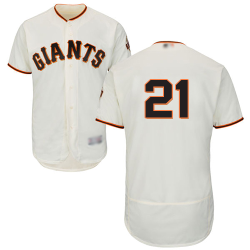Giants #21 Stephen Vogt Cream Flexbase Authentic Collection Stitched MLB Jersey