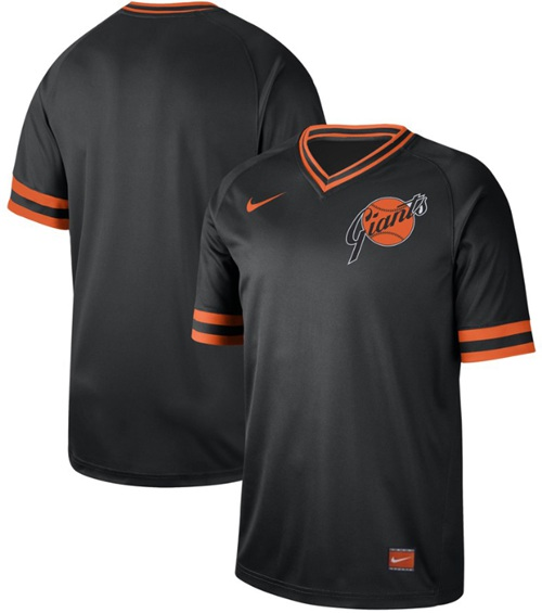 Nike Giants Blank Black Authentic Cooperstown Collection Stitched MLB Jersey