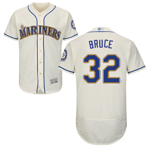 Mariners #32 Jay Bruce Cream Flexbase Authentic Collection Stitched MLB Jersey