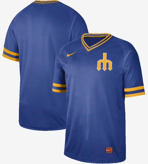 Nike Mariners Blank Royal Authentic Cooperstown Collection Stitched MLB Jersey