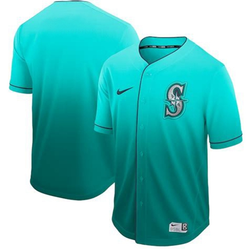 Nike Mariners Blank Green Fade Authentic Stitched MLB Jersey