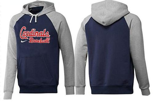 St.Louis Cardinals Pullover Hoodie Blue & Grey
